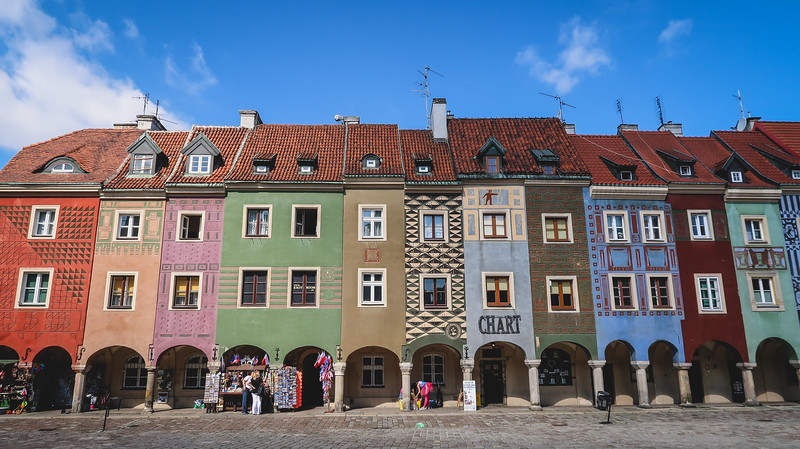 The famous Merchant Houses in Poznan.