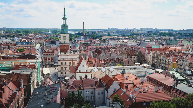 Views of Poznan from the Royal Castle.