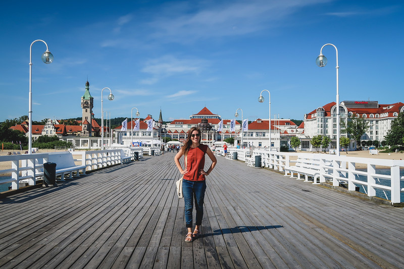 Taking a day trip to Sopot from Gdansk, Poland.
