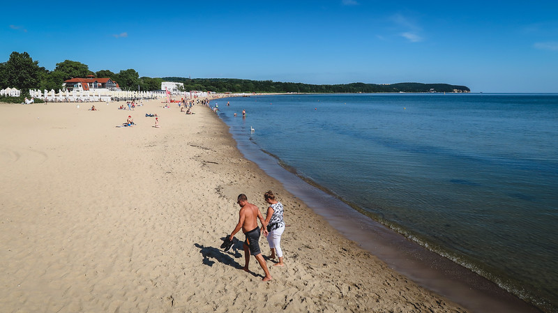 The beaches in Sopot aren't the warmest, but there's a nice stretch of sand to walk on.