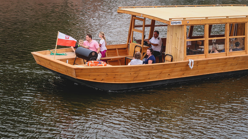 Boat tours on the Oder River in Wroclaw.