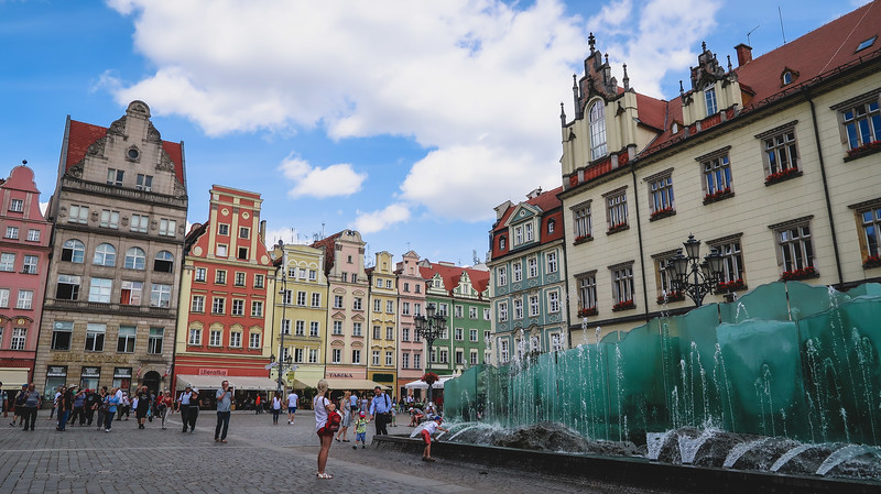 Visiting Market Square in Wroclaw.