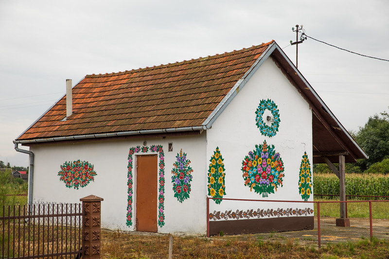 Polish folkart homes in Zalipie