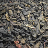 Shoes collected from prisoners