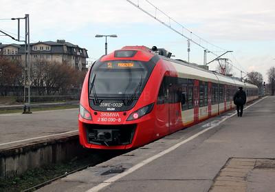 3) SKM, 2160 090 (PL-SKMWA 94 51 2160 090-8 or 35WE 002F) at Otwock on 3rd November 2012