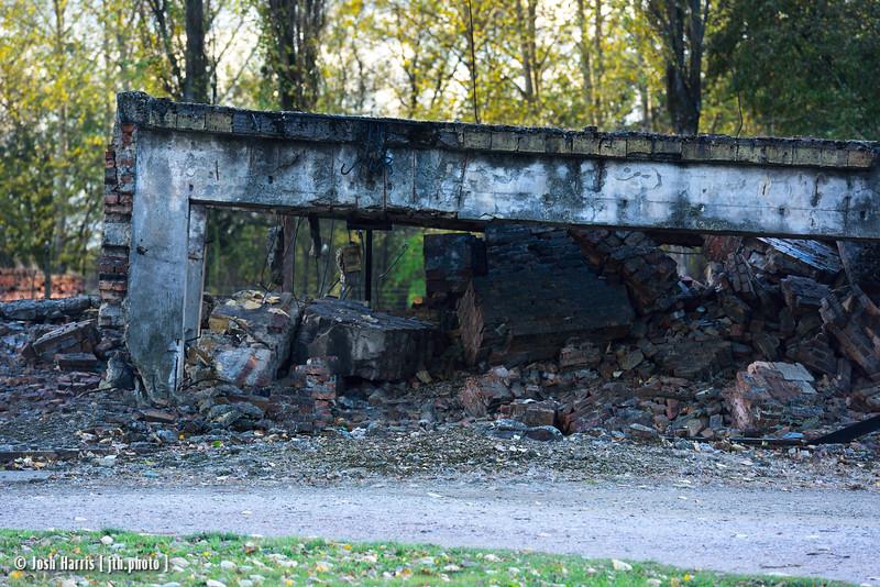 Crematorium II, Auschwitz II-Birkenau, Poland, October 2018.