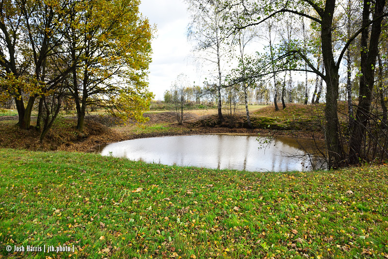 Pond Containing Human Ashes, near Bunker I, Auschwitz II-Birkenau, Poland, October 2018.