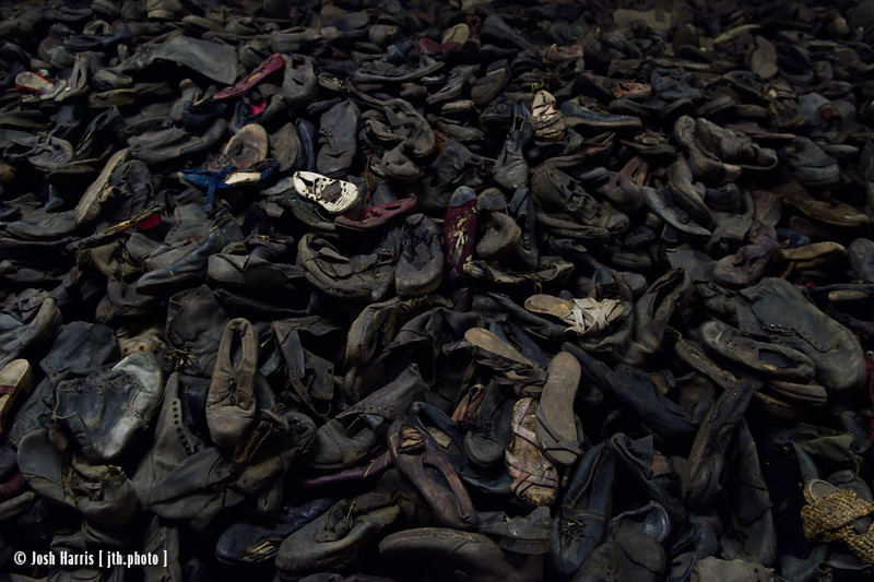Shoes Confiscated from Prisoners, Auschwitz, Poland, October 2018.