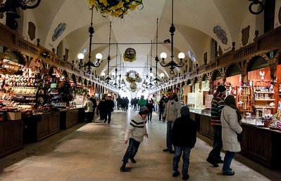 Sukiennice Market during Easter, Cracow - March 2013