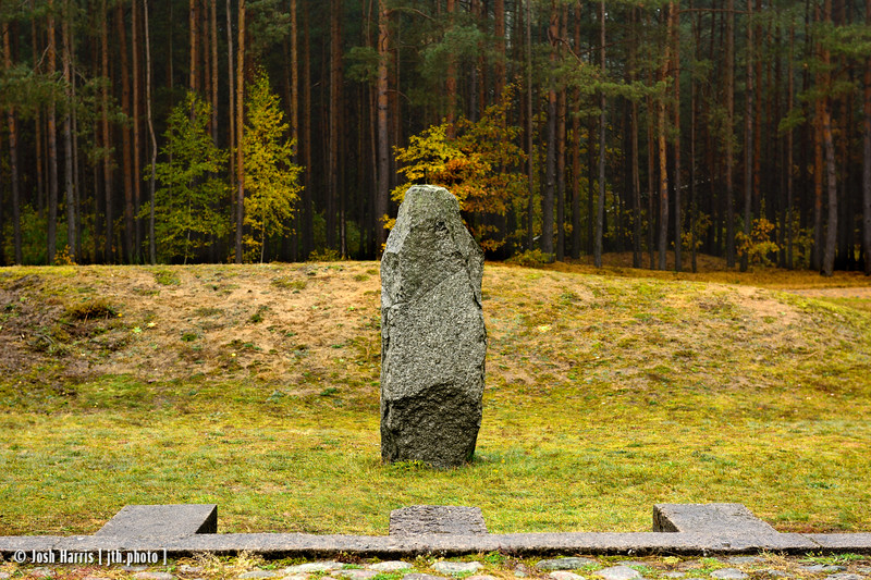 Stone Marking Original Camp Boundary, Treblinka Extermination Camp, Poland, October 2018.
