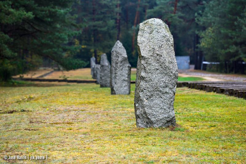 Stones Marking Original Camp Boundary, Treblinka Extermination Camp, Poland, October 2018.