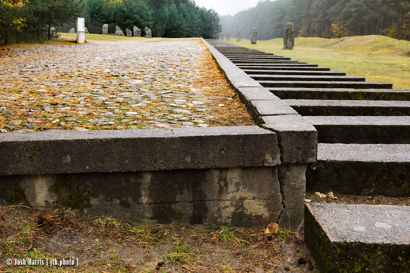Representation of Unloading Platform, Treblinka Extermination Camp, Poland, October 2018.