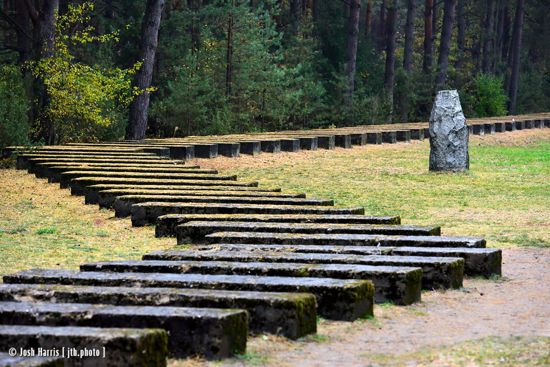 Tracks Commemorating Original Rail Line, Treblinka Extermination Camp, Poland, October 2018.