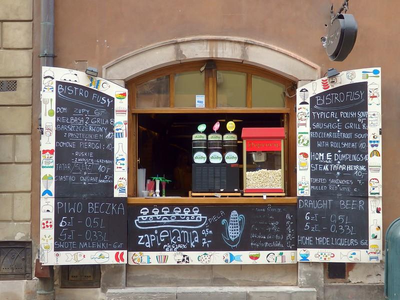 Cute snack shops in Warsaw.