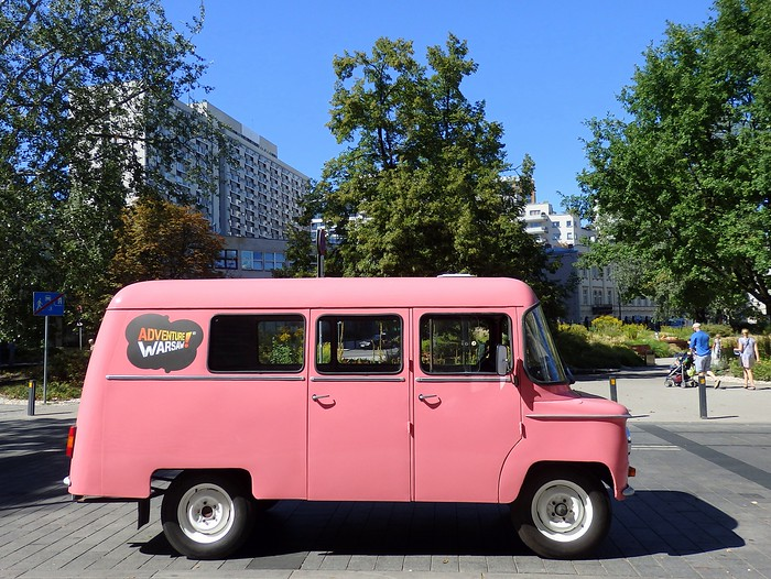Nysa Pink Van tour with Adventure Warsaw
