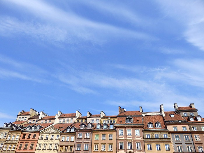 The buildings in Warsaw's Old Town were rebuilt after the war