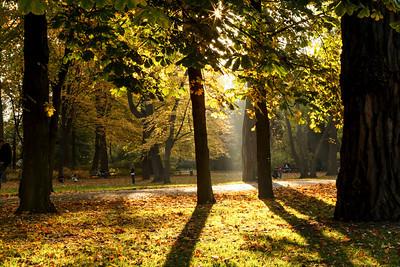 Royal Lazienki (Lazienki Krolewskie) in Warsaw - Autumn 2012