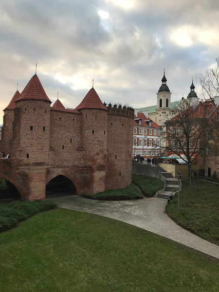 warsaw barbican fortifications
