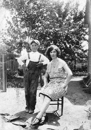 Brother and sister, Joe Szymanski and Adela (Szymanski) Baykowski. (courtesy Lottie Keir Moore)