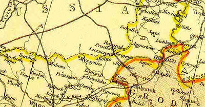 Map of the region, 1882.