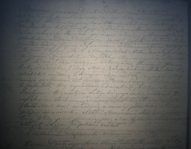 February 20, 1848 Marriage entry of Jan Szymanski & Marianna Wisniewska. (courtesy Lottie Keir Moore)