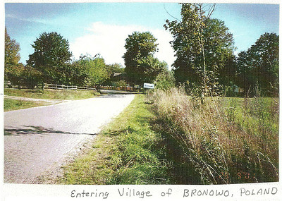 Entering the village of Bronowo. (courtesy Lottie Keir Moore)