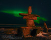Northern Lights Inukshuk - Polar Bears and Northern Lights - Churchill, Manitoba, Canada - John Remy - November 2012