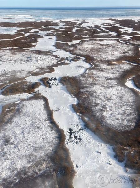 Flying from Hudson Bay to Churchill, Manitoba