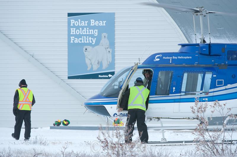 polar bear jail holding facility; Churchill; Manitoba