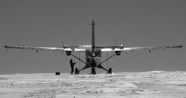 Twin Otter at Field Site
