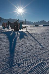 Washing drying, union Glacier