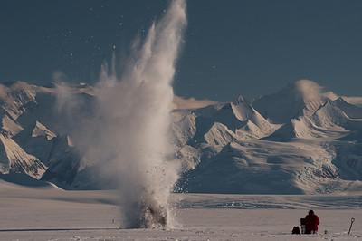Seismic surveying, Rutford Ice Stream, Antarctica