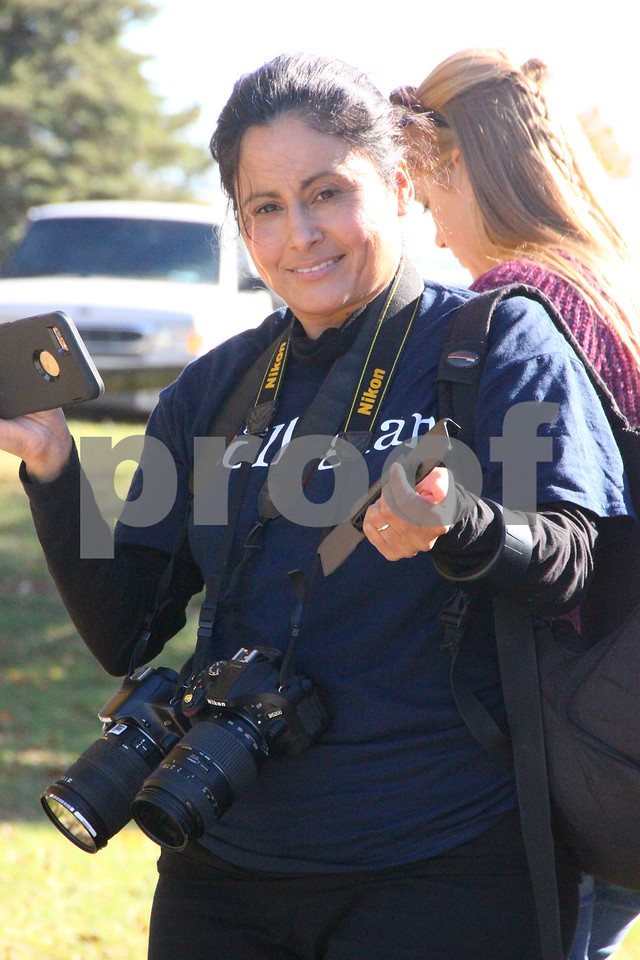 Pictured is: Catalina Perry was present to  grab a few pictures and information for Iowa Central Community College. Sunday, November 1, 2015, Kennedy Park in Fort Dodge held the Polar Plunge fund raiser event for special Olympics.