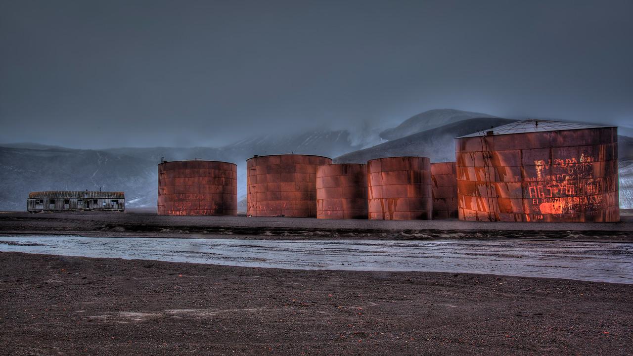 Deception island antarctica oil drums