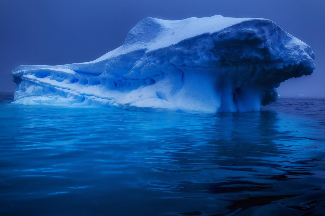 blue ice icebergs antarctica