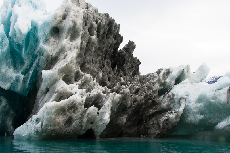 A abstract of the weird, alien iceberg landed off Renbugten in Greenland
