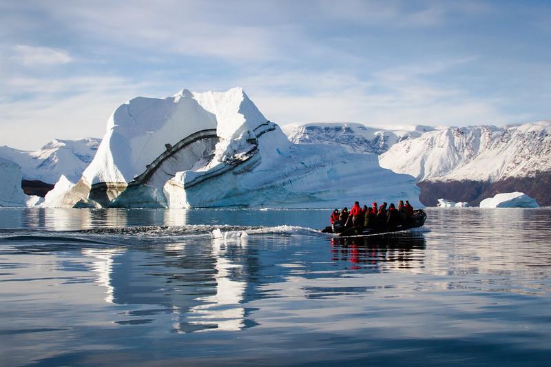 Zodiac and Icebergs