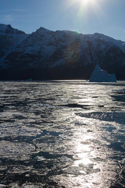 Pancake Ice Forming in Scoresbysund