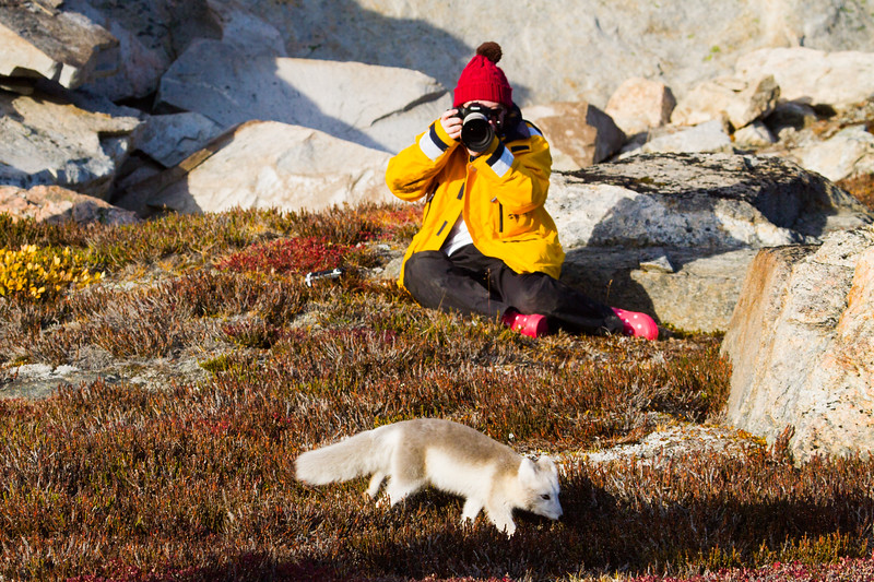 Marie with Arctic Fox