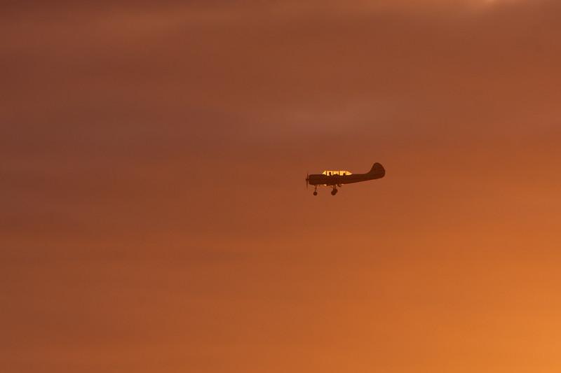 Light aircraft landing at Reykjavik