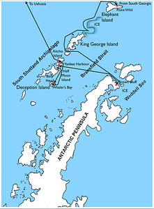 Route Map, Antarctic Peninsula