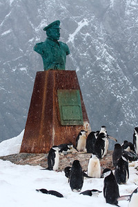 Point Wild, Elephant Island, Antarctica (Statue in honor of captain of Yelcho, who rescued Shackleton's crew of 22 men)