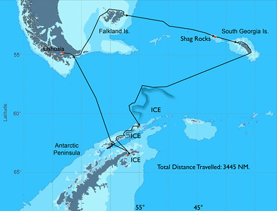 Overall Expedition Route through the Southern Ocean