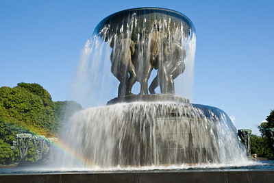 A bronze fountain in the Vigeland Sculpture Park in Oslo.