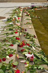 A closeup of one of many memorials around Oslo to the victims of the 22 July 2011 massacre.