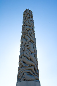 Carved granite obelisk by Gustav Vigeland, located in the Vigeland Sculpture Park in Oslo.