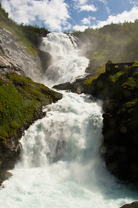 Kjosfossen Waterfall, outside Myrdal, Norway.
