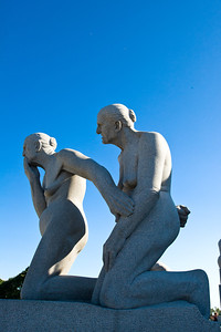 Another of the 200 carved statues in the Vigeland Sculpture Park in Oslo.