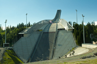 Holmenkollbakken, the ski jumping hill outside Oslo that is the site of the 1952 Winter Olympics and several Nordic World Ski Championships.