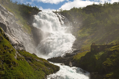 Kjosfossen Waterfall outside Myrdal, Norway